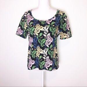St.John Sport Floral T-Shirt/Top